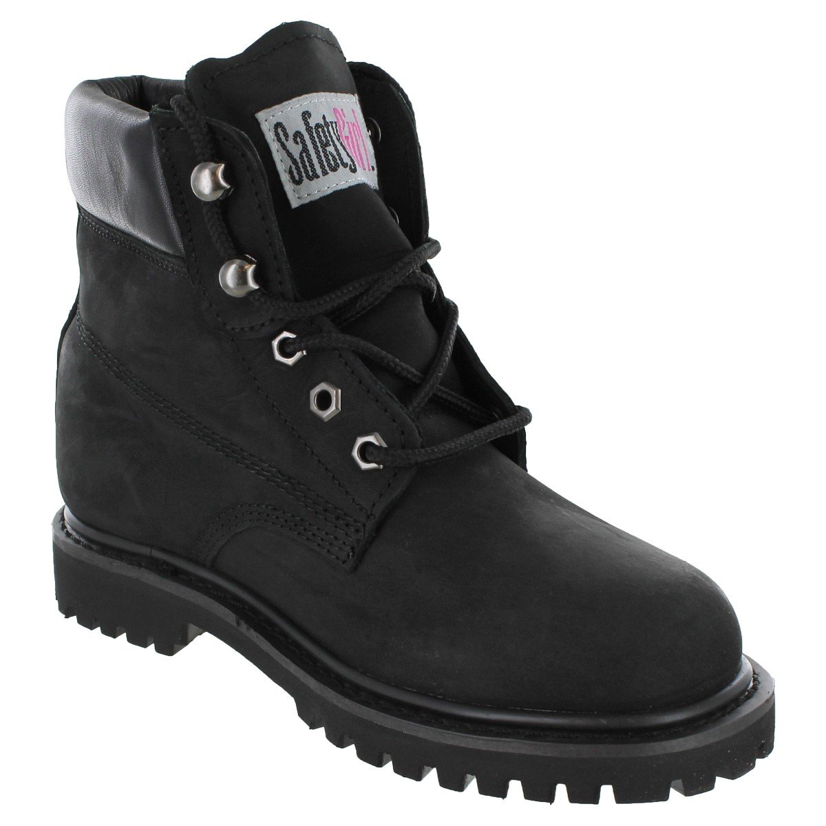 Safety Girl II Steel Toe Work Boots - Black by Safety Girl