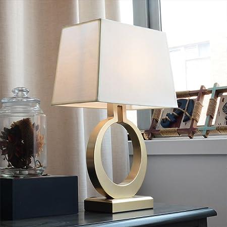 &Luz para Leer Lámpara de Mesa - Lámpara de Escritorio de Hierro Forjado, Dormitorio, Sala de Estar, lámpara de Estudio, lámpara de Mesa de Personalidad Simple y Moderna Lámpara de Noche: Amazon.es: