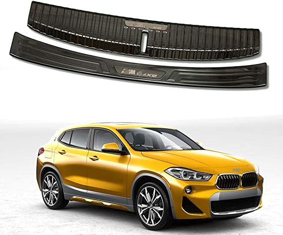 External Rear Guard Plate Suitable for 2018 BMW X2 Decorative Parts Stainless Steel Rear Guard Plate Bumper Protection Device