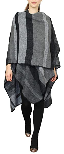 Farben Umhang 027 Muster im 3 Poncho Damen WJ025 Mantel Punkten Cape Wendeponcho eleganten in vN0Om8nw