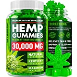 Hemp Gummies - 30000 MG - Premium Stress & Anxiety Relief - Made in USA - 100% Natural & Safe Oil Gummies - Mood Enhancer & Immune Support - Rich in Vitamins B, E & Omega 3 - 90 PCS Larger Image