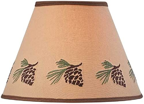 Park Designs Pinecone Embroidered Shade – 10