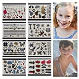 koala in can - Temporary Tattoos For Kids - 166 Tattoos on 8 Sheets - Best For Party Favors Birthday Party Supplies Stocking Stuffers and goodie bags - 8 Pages of Metallic Temporary Tattoos for Boys and Girls