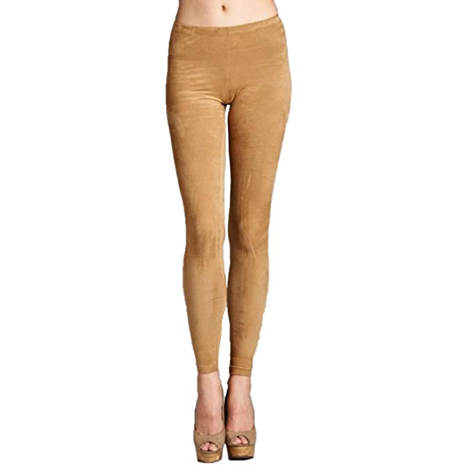 105956ceb5dd5e Cherish Womens Faux Suede Leggings Camel Medium: Amazon.ca: Clothing ...