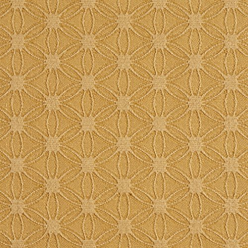 E533 Gold Flower Jacquard Woven Contemporary Upholstery Grade Fabric by The Yard