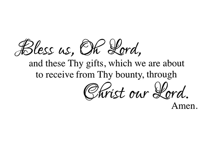 amazon com bless us oh lord dinner prayer vinyl wall decal
