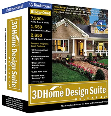 Amazon.com: 3D Home Design Suite Deluxe 4.0