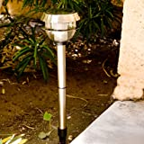 Stainless Adjustable Solar Power Outdoor Lights (2 Pack)