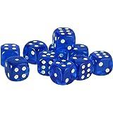 【ノーブランド品】 10個セット TRPGゲーム アクリル おもちゃ 六面ダイス D6 ダイス サイコロ 全10色 - ダークブルー