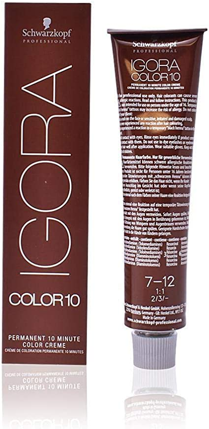 Schwarzkopf Professional Igora Color 10 Color Creme 7-12 Tinte - 60 ml