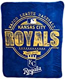 The Northwest Company MLB Kansas City Royals Structure Micro Raschel Throw, 46-Inch by 60-Inch