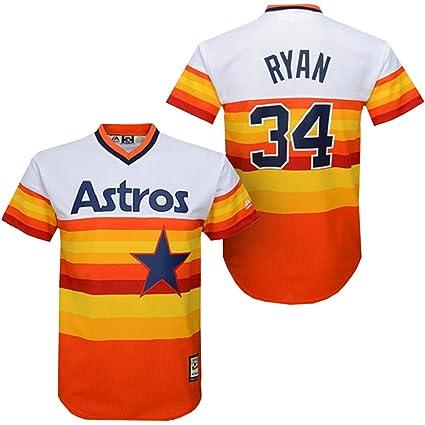 new style b50e8 3e2df Majestic Men's Houston Astros Nolan Ryan Cooperstown Pullover Jersey