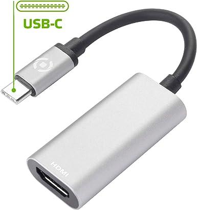 Celly Adaptador USB-C a HDMI, 4k compatible con Smartphones ...