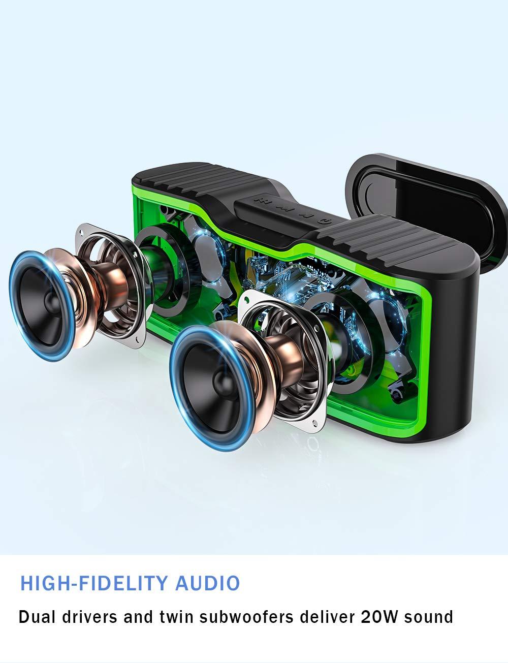 Built AOMAIS Sport II Mini Portable Bluetooth Speakers with 10W Superior Sound
