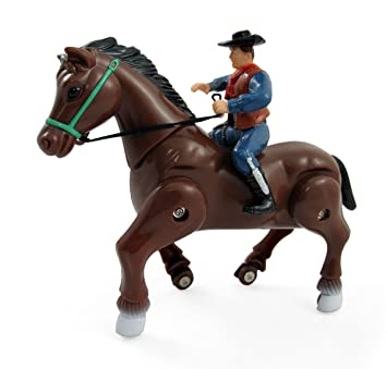 Amazoncom Wild West Galloping Horse And Cowboycowgirl Rider