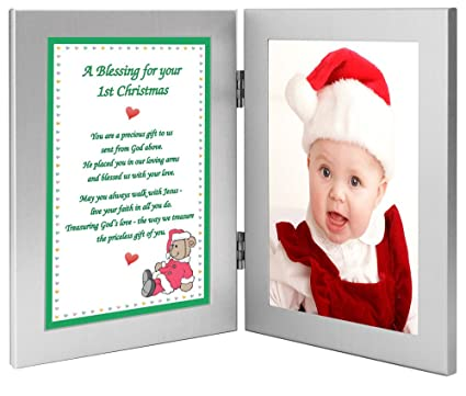 poetry gifts babys 1st christmas frame with first christmas blessing for grandchild godchild