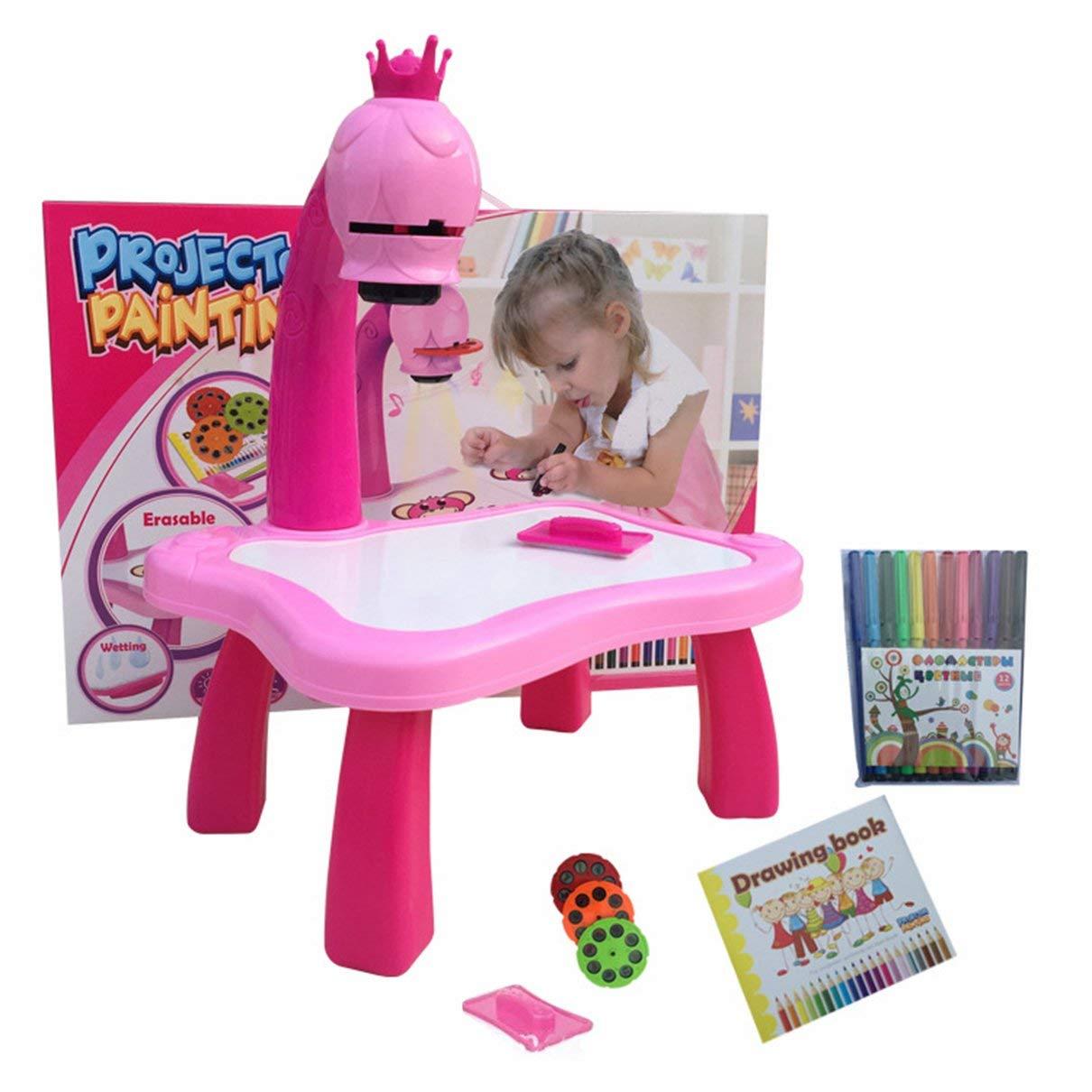 Amazon.com: Escritorio de aprendizaje infantil con proyector ...