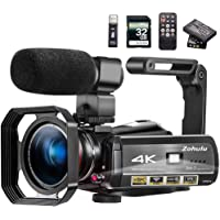 Video Camera 4K Camcorder ZOHULU Vlog Camera for YouTube, HD Digital Camera with 30X Digital Zoom and Night Vision…
