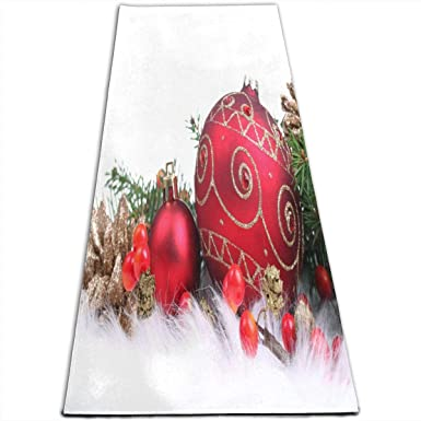 Amazon.com: Yoga Mat Red Christmas Decorations Customized 1 ...