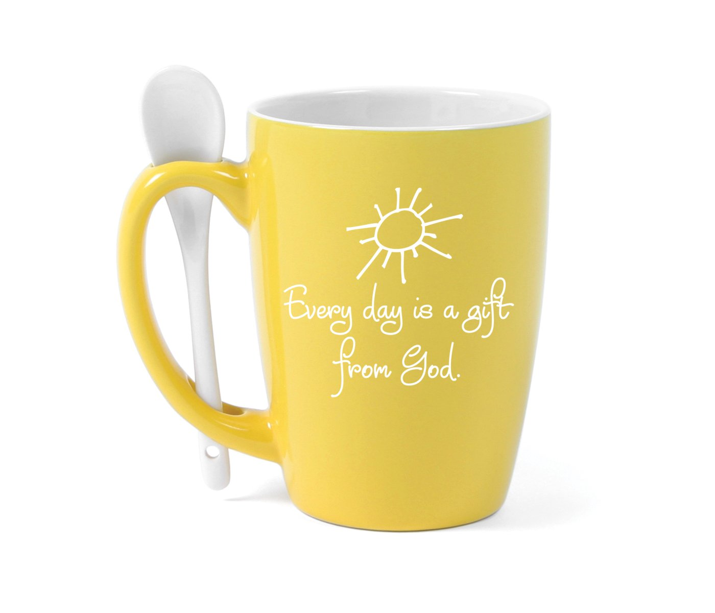 James Lawrence Every day is a Gift from God Spoon Mug Sunshine Holds 15 oz
