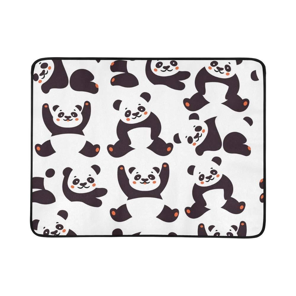 EIJODNL Panda Portable and and and Foldable Blanket Mat 60x78 Inch Handy Mat for Camping Picnic Beach Indoor Outdoor Travel B07MYRTJHC Picknickdecken Ein Gleichgewicht zwischen Zähigkeit und Härte 822ad5
