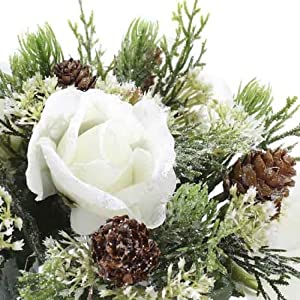 Group of 6 Elegant Winters Day Rose Stems for Winter Weddings, Parties, and Decorating 65