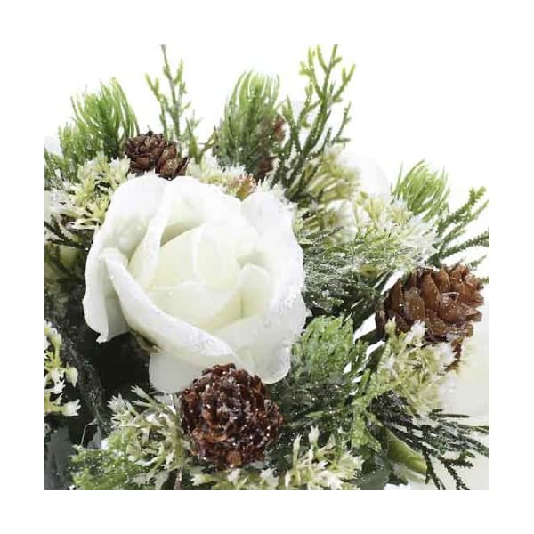 Group of 6 Elegant Winters Day Rose Stems for Winter Weddings, Parties, and Decorating