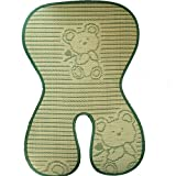 Fairy Baby Folding Summer Child Safety Seat Mat Natural Bamboo Buggy Pad Green,Size 7'' Wx15 L