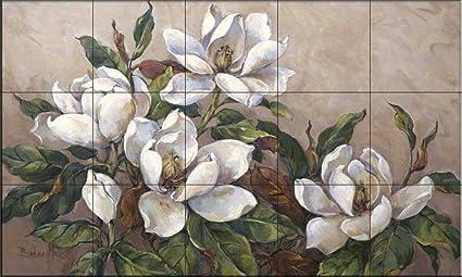 Murale di piastrelle di ceramica magnolia inspiration di barbara