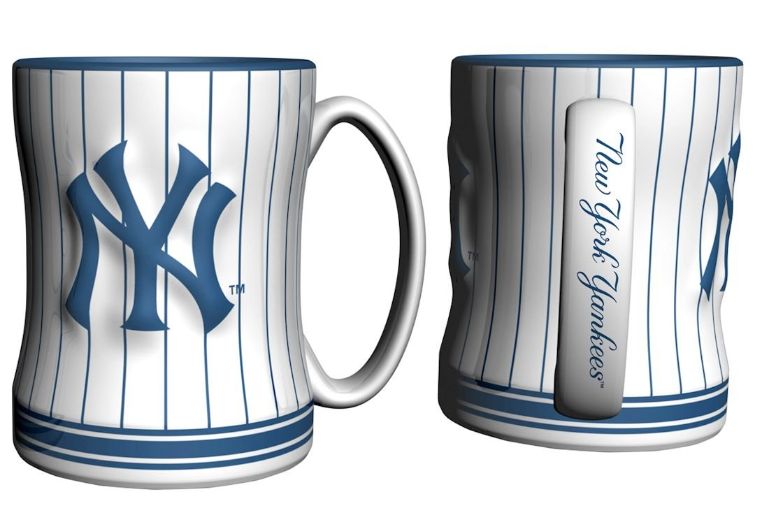 Amazon new york yankees coffee mug 14oz sculpted relief amazon new york yankees coffee mug 14oz sculpted relief pinstripes sports outdoors biocorpaavc Images