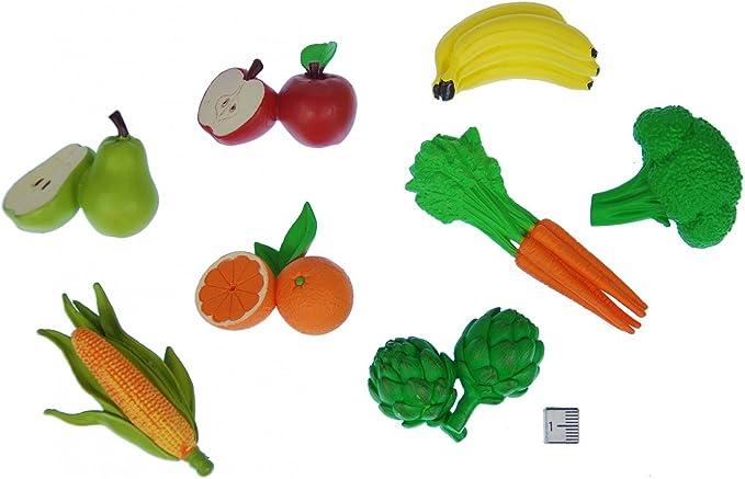 Miniblings Alimentos Goma Vegetal 7X Conjunto de Fruta Figura Jardín Vitaminas Alimentos: Amazon.es: Juguetes y juegos