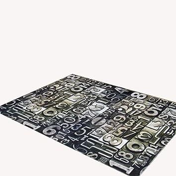 Fesselnd Modernes Wohnzimmer Wohnzimmer Teppich Matte Matte Matte Couchtisch Teppich  Schwarz Polyester Material Digital Muster Rechteckig 200 ...