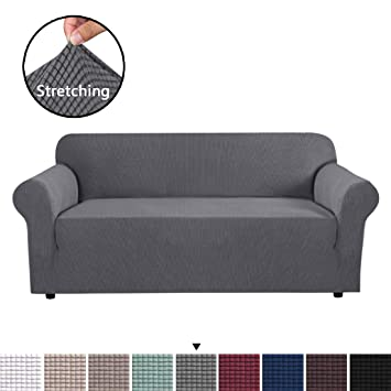 H.VERSAILTEX High Stretch Sofa Cover 1 Piece Couch Covers, Lounge Covers for 3 Cushion Couch, Sofa Slipcover for Living Room, Sofa Cover Stretch, ...