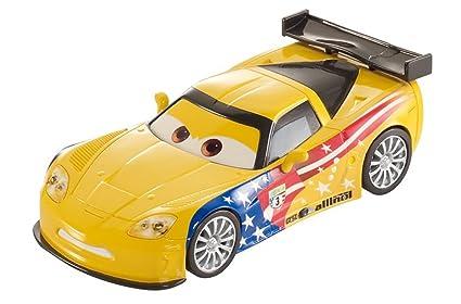 Amazon Com Mattel Cars 2 Pullback Racers Jeff Gorvette Toys Games