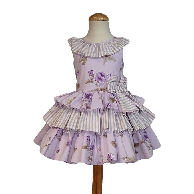 Ricittos - Vestido Violeta con Volantes. (2)