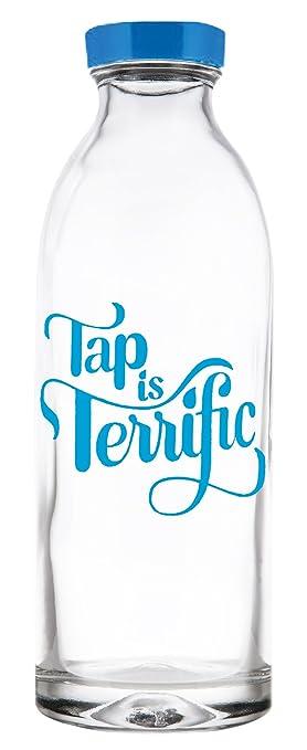 Grifo es fabuloso de cristal botella de agua