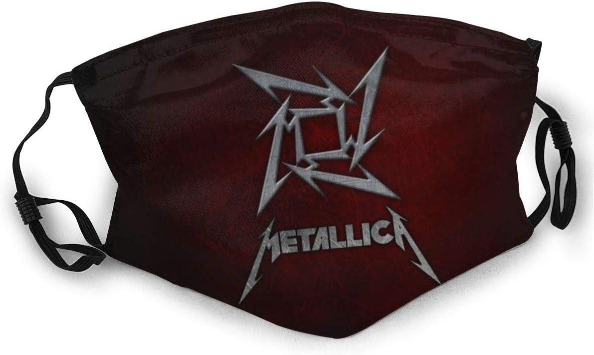 para hombres reutilizable mujeres Lemonationff Metallica mascarilla unisex resistente al viento actividades al aire libre rosa Metallica Negro 3 talla /única