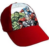 Marvel Junior Cap Hat Kids Avengers Cap America Thor Iron Man Hulk Boys 52cm (Red Avengers)