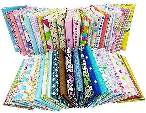200pcs DIY tela de algodón Patchwork artesanía textil tejido ...