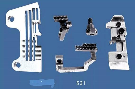 Calibre de aguja Set Brother cuatro hilos B531 enhebra Industrial ...