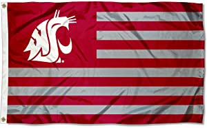College Flags & Banners Co. Washington State Cougars Stars and Stripes Nation Flag