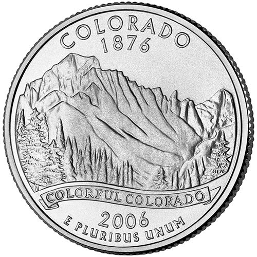 2006 S Silver Proof Colorado State Quarter Choice Uncirculated US Mint ()