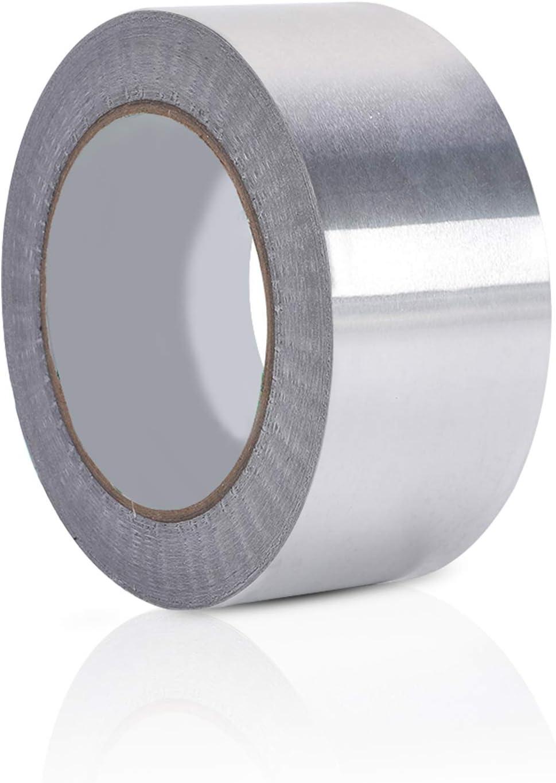 LAITER Aluminium Adhesive Tape Silver Aluminium Foil Tape Reflective Heat Resistant Waterproof Duct Aluminium Sealing Tape for Pipe Rupture Roof Leak Surface Crack 4.8cm x 30m