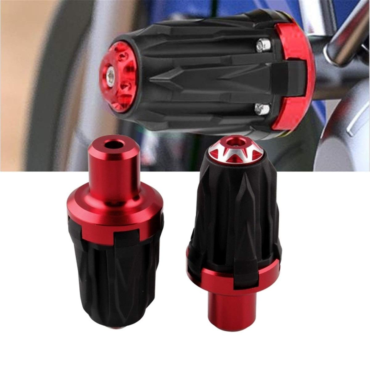 CONGCASE Motorcycle Modification Accessary, A Pair of 10mm Screw Hole Car Motorcycle Limited Body Anti-Drop Rod (Color : Red) by CONGCASE