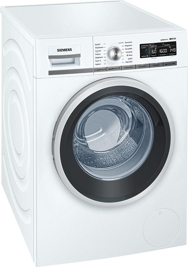 Siemens iQ700 WM16W540 Waschmaschine / 8,00 kg / A+++ / 137 kWh / 1.600 U/min / Schnellwaschprogramm / Nachlegefunktion / aqu
