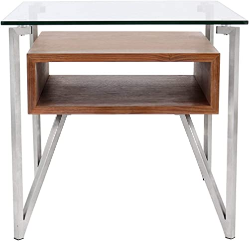 LumiSource Modern Walnut Malmo End Table