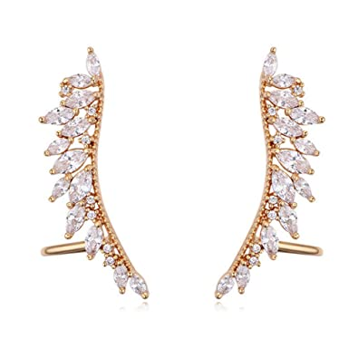 402e1140e Buy 1 Pair Women's Ear Cuffs Wrap Clip Wings Shape Earrings for Non-Pierced  Ears (Champagne Gold) Online at Low Prices in India | Amazon Jewellery  Store ...