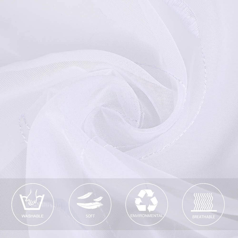 CULASIGN Raffrollo Stickerei Voile Raffgardine Transparent Gardine Vorhang Schlaufenschal Deko f/ür Wohnzimmer Schlafzimmer Studierzimmer 1PC Lila,80 * 140cm