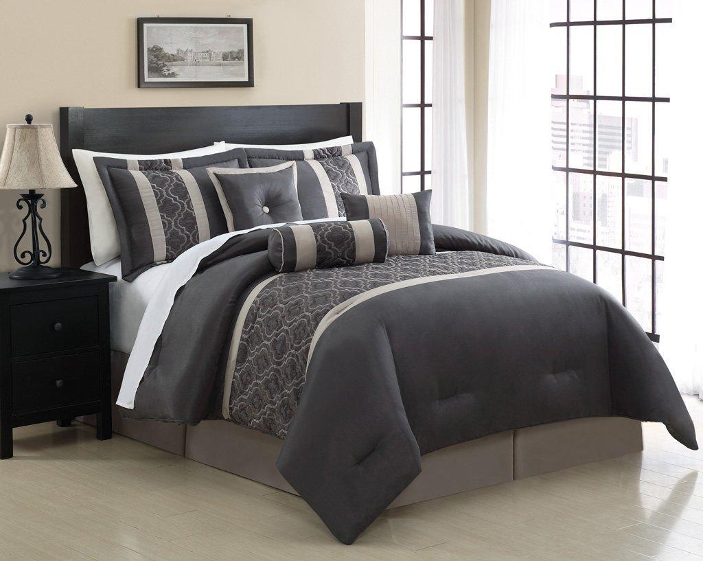 amazoncom  piece king renee embroidered comforter set home  - amazoncom  piece king renee embroidered comforter set home  kitchen