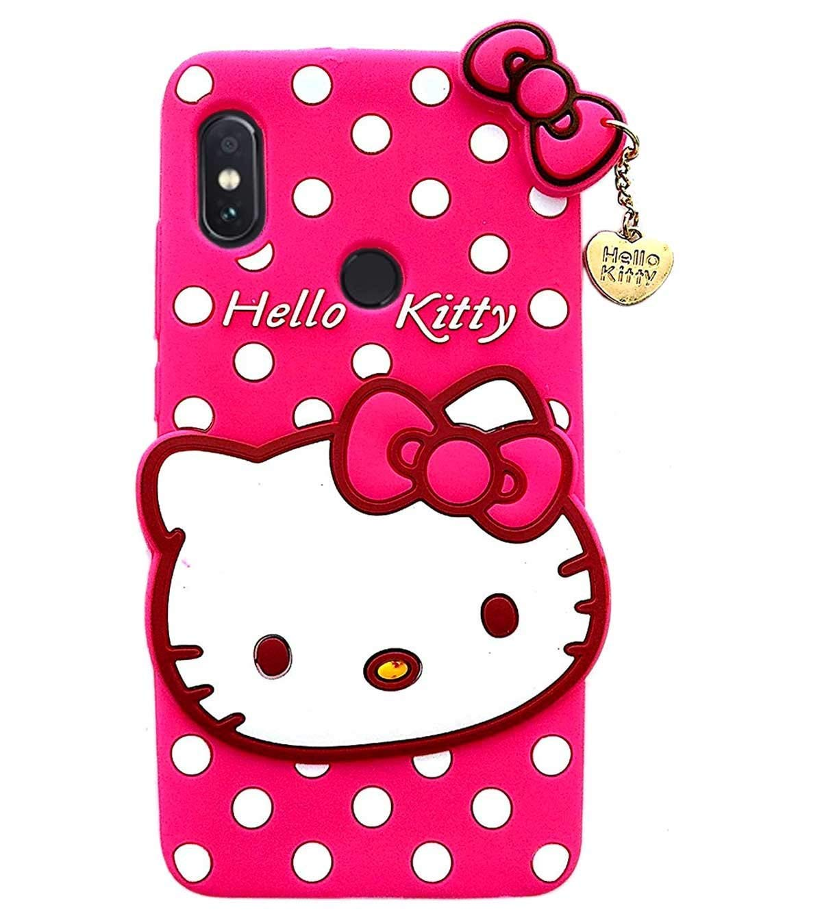 Trifty Cute Hello Kitty for Redmi Note 6 pro - Pink